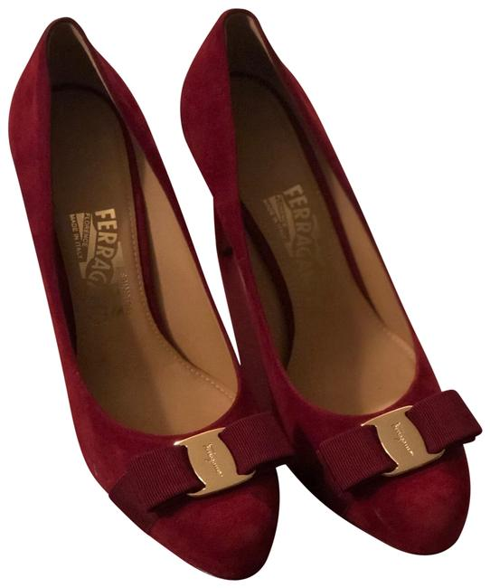 Item - Burgundy 'pimpa' Suede Pumps Size US 7.5 Regular (M, B)