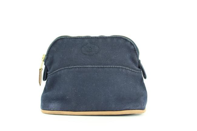Item - Navy Blue Pouch Bolide Toile Make Up Case 1her1111 Cosmetic Bag