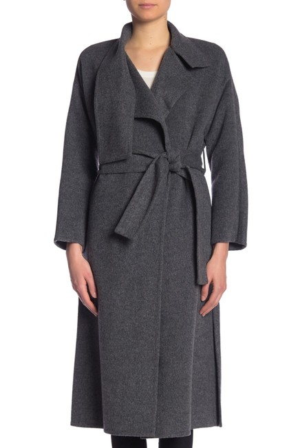 Item - Grey (Nwt) Belted Lapel Detail Wool Coat Size 2 (XS)