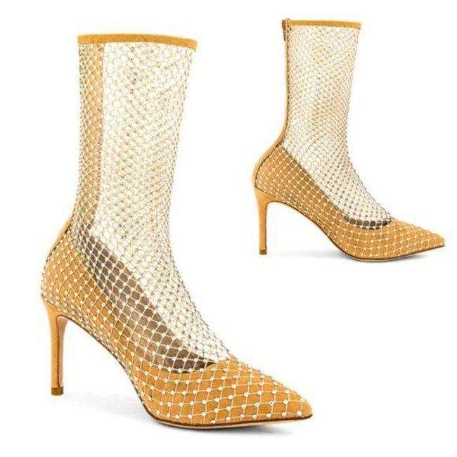 Item - Tan Silver Caged In Nude Boots/Booties Size US 9 Regular (M, B)