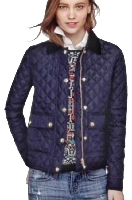 Item - Navy Blue Quilted Tack Jacket Size 0 (XS)