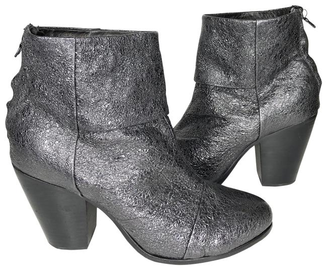 Item - Silver Newberry Metallic Ankle Boots/Booties Size US 8.5 Regular (M, B)