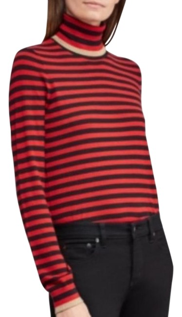 Item - Striped Turtleneck Red Blue Gold Sweater