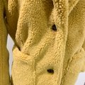 Sebby Golden Yellow Notched Lapel Faux Shearling Coat Size 12 (L) Sebby Golden Yellow Notched Lapel Faux Shearling Coat Size 12 (L) Image 6