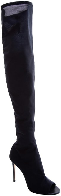 Item - Black Stretch Over The Knee Boots/Booties Size EU 38 (Approx. US 8) Regular (M, B)