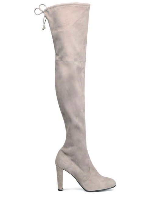 Item - Stone New Over The Knee Suede Leather Boots/Booties Size EU 41 (Approx. US 11) Regular (M, B)