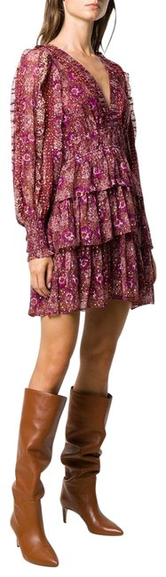 Item - Pink Printed Short Night Out Dress Size 6 (S)