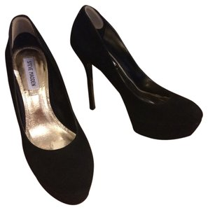 Steve Madden Bianca Suede Pump Black Pumps
