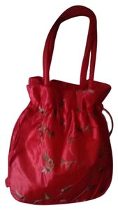 Flowers Prom Formal Dance Tote in red