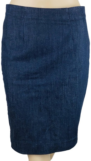 Item - Blue Lightweight Denim Pencil Skirt Size Petite 2 (XS)