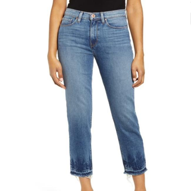 Item - Blue Light Wash Holly High Waist Release Raw Hem Ankle In Try Me Straight Leg Jeans Size 25 (2, XS)