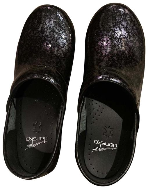 Item - Black/Multi Color Professional Mules/Slides Size US 8 Regular (M, B)