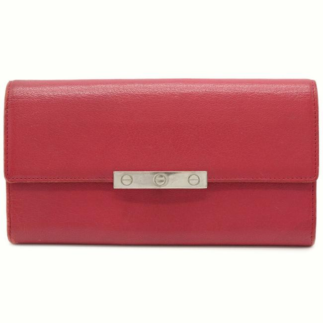 Item - Pink Long Love Collection Love Series Leather L3001298 Wallet