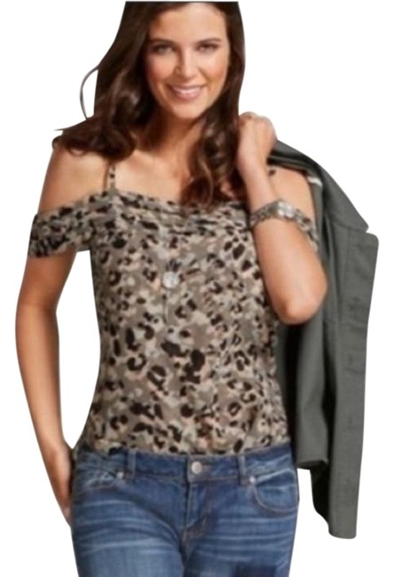 Item - Green Black Tan Alegria Print Shirt Tank Top/Cami Size 4 (S)