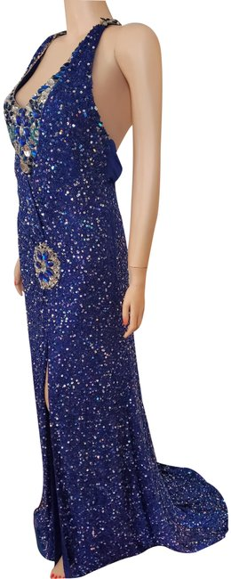 Item - Royal Blue 4345 Long Night Out Dress Size 6 (S)