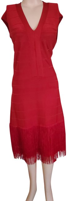 Item - Red Mid-length Cocktail Dress Size 16 (XL, Plus 0x)