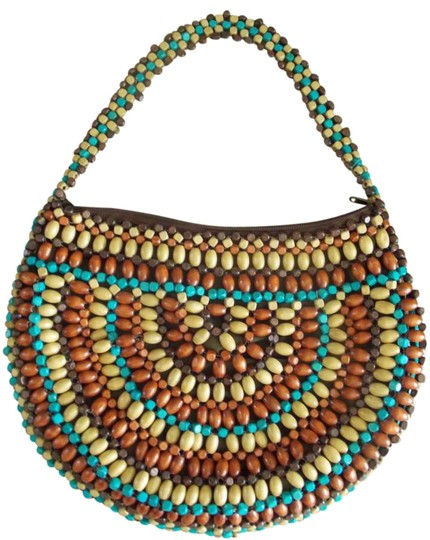 Preload https://img-static.tradesy.com/item/281809/express-beaded-classic-turquoise-accent-brown-bead-shoulder-bag-0-0-540-540.jpg