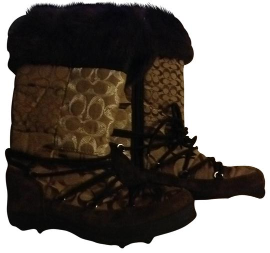 Preload https://img-static.tradesy.com/item/28181/coach-brown-and-tan-bootsbooties-size-us-75-0-0-540-540.jpg