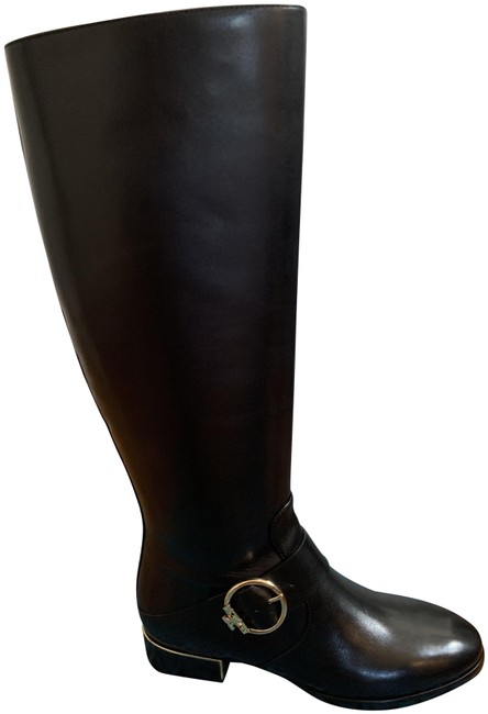 Item - Black Sofia Gold Buckle Riding Boots/Booties Size US 8 Wide (C, D)
