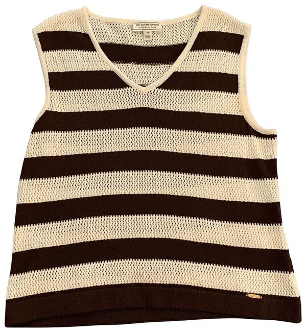 Item - Brown and White Tank Top/Cami Size 8 (M)
