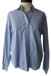 Cruel Girl Western Button Down Shirt Blue