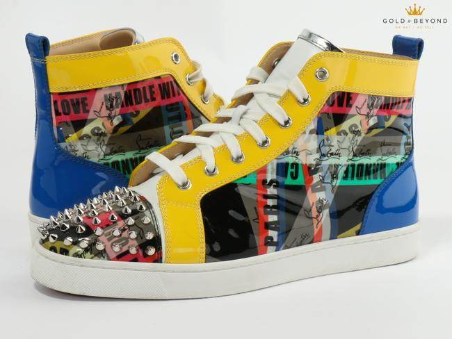 Item - Multicolor Loubiballage Spiked High Top Sneaker Size 42.5 Shoes