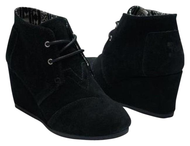 Item - Black Suede Desert Wedge Boots/Booties Size US 6.5 Regular (M, B)