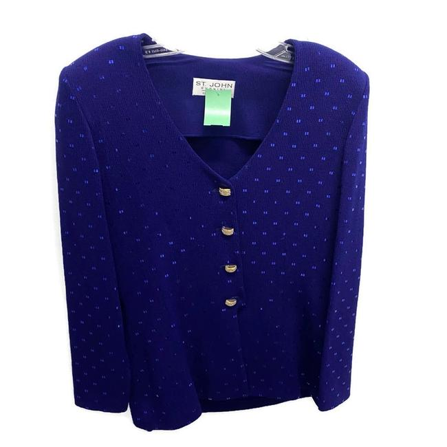Item - Royal Blue Evening By Marie Gray Cardigan Size 8 (M)