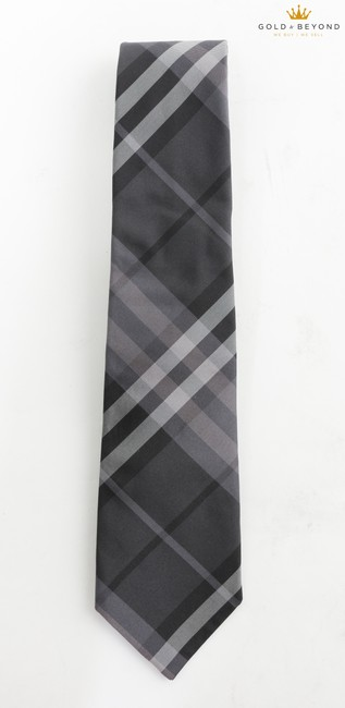 Item - Purple/Gray Clinton Check Silk Tie/Bowtie Tie/Bowtie