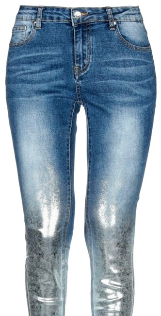 Item - Denim / Silver Coated If Girls Dressed For Boys... Straight Leg Jeans Size 29 (6, M)