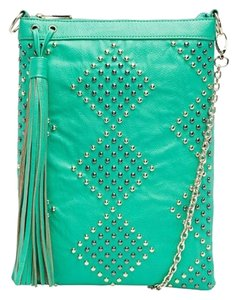 Lionel Teal Studded Cross Body Bag