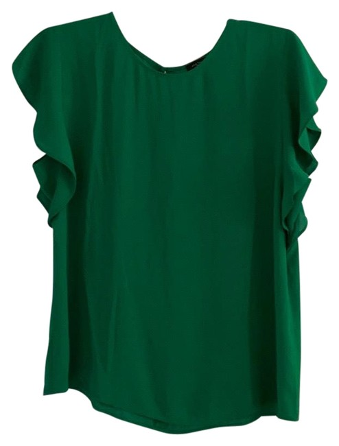 Item - Green X Blouse Size 6 (S)