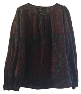 Marc by Marc Jacobs Paisley Bell Sleeve Silk Wool Vintage 60s Top Paisley Print