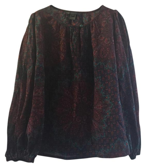 Preload https://img-static.tradesy.com/item/2818216/marc-by-marc-jacobs-paisley-print-bell-sleeve-silk-wool-vintage-60s-blouse-size-8-m-0-0-650-650.jpg