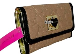 Betsey Johnson Betsey Johnson Quilted Heart Will You Be Mine Tri-Fold Flap Clutch Wallet