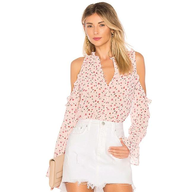 Item - Pink The Bell Button Up Floral Blouse Size 00 (XXS)