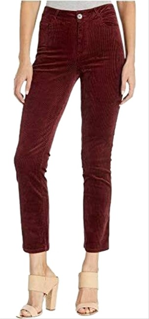 Paige Burgundy Hoxton Slim In Pants Size 10 (M, 31) Paige Burgundy Hoxton Slim In Pants Size 10 (M, 31) Image 1