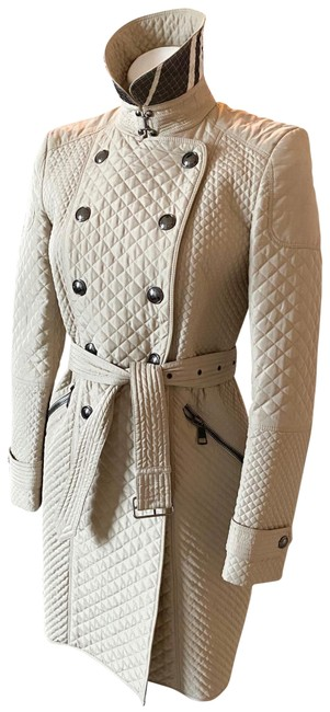 Item - Beige Micro Quilted Nova Check Coat Size 4 (S)