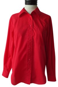 Foxcroft Button Down Shirt Red