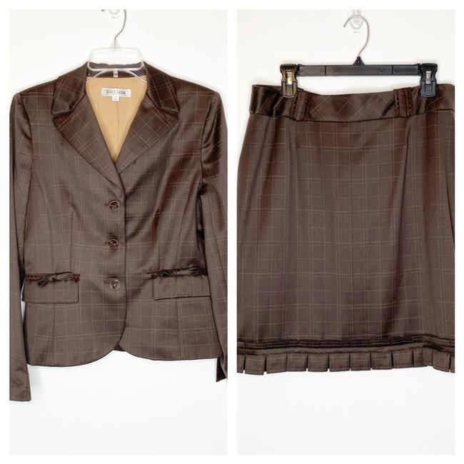 Kay Unger Brown . Skirt Suit Size 10 (M) Kay Unger Brown . Skirt Suit Size 10 (M) Image 1