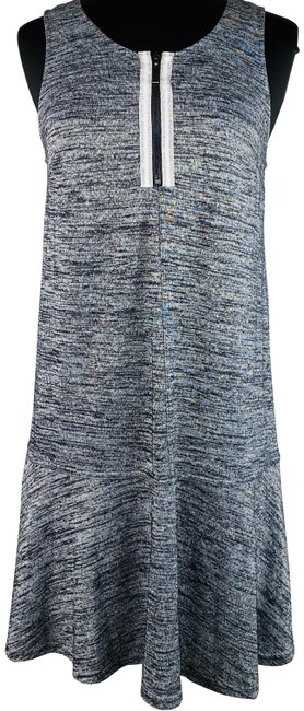 Item - Gray Marled Sleeveless Fit N Flare Mid-length Short Casual Dress Size 4 (S)