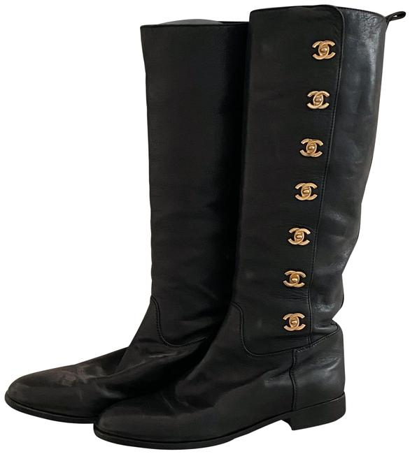 Item - Black Cc Turnlock Riding Boots/Booties Size EU 37 (Approx. US 7) Narrow (Aa, N)