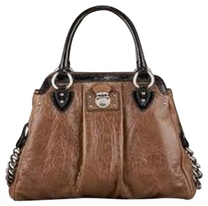 Marc Jacobs Designer Snakeskin Python Carryall Satchel in Brown