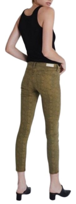 Item - Green Medium Wash Prima Silk Python New Skinny Jeans Size 26 (2, XS)