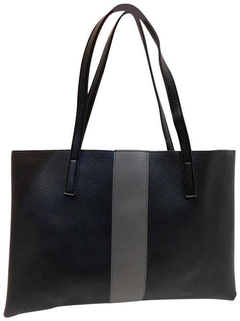 Item - Luck Color Black/Gray Vegan Leather Tote
