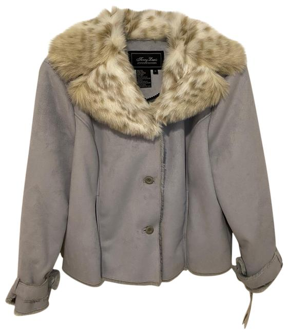 Item - Soft Gray Rn#77025 Faux and Suede Coat Size 20 (Plus 1x)