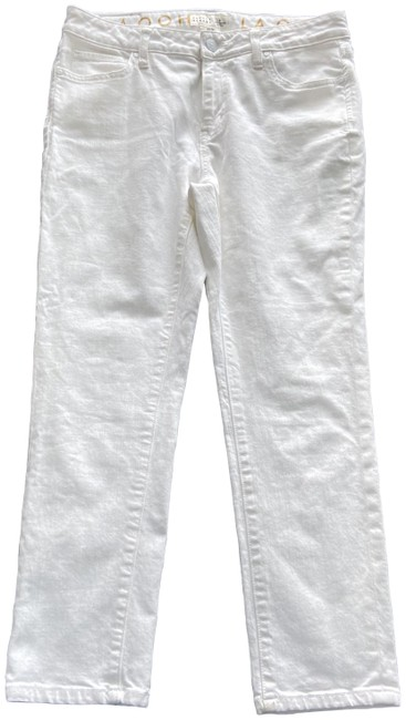 Item - White Cropped Broome Street Pants Straight Leg Jeans Size 28 (4, S)