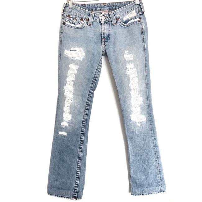 Item - Blue Distressed Billy Straight Leg Jeans Size 28 (4, S)