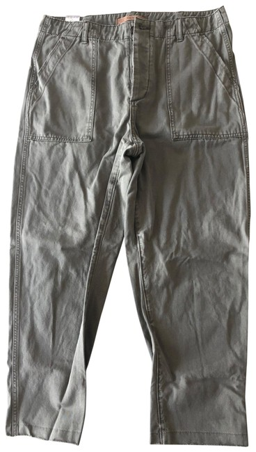 Item - Khaki Coated Straight Leg Jeans Size 10 (M, 31)