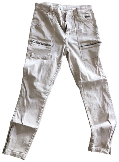 Item - Beige Coated Cargo Jeans Size 10 (M, 31)